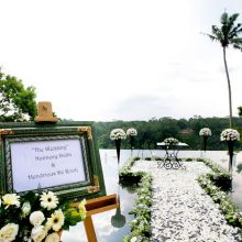 wedding decoration stand at kupu barong ubud
