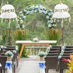 maya ubud resort wedding decoration