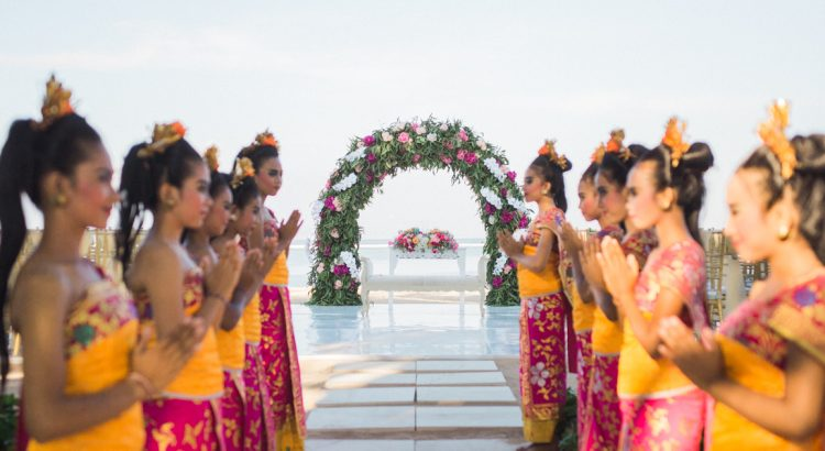 the water wedding at royal santrian