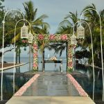 beach bali wedding at the royal santrian