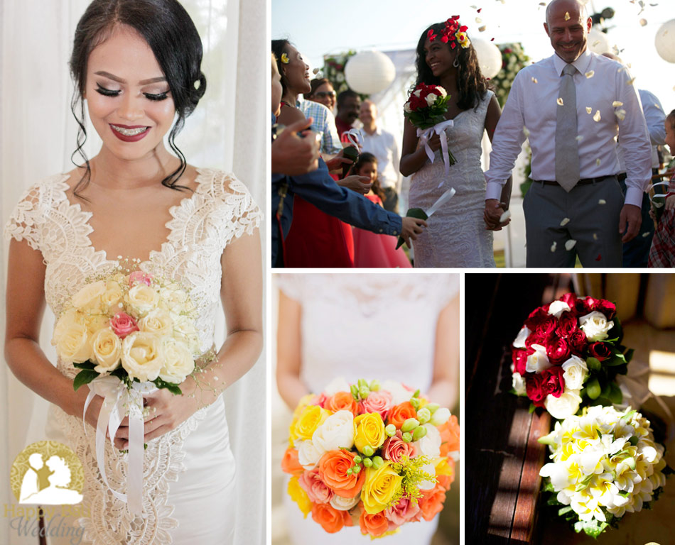 bali wedding flowers, flower bouquet - happy bali wedding