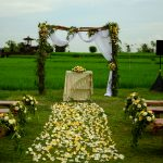 romatic wedding decoration at desa visesa