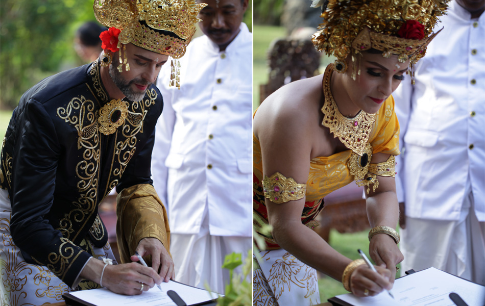 axel - kathleen balinese blessing ceremony and legal wedding