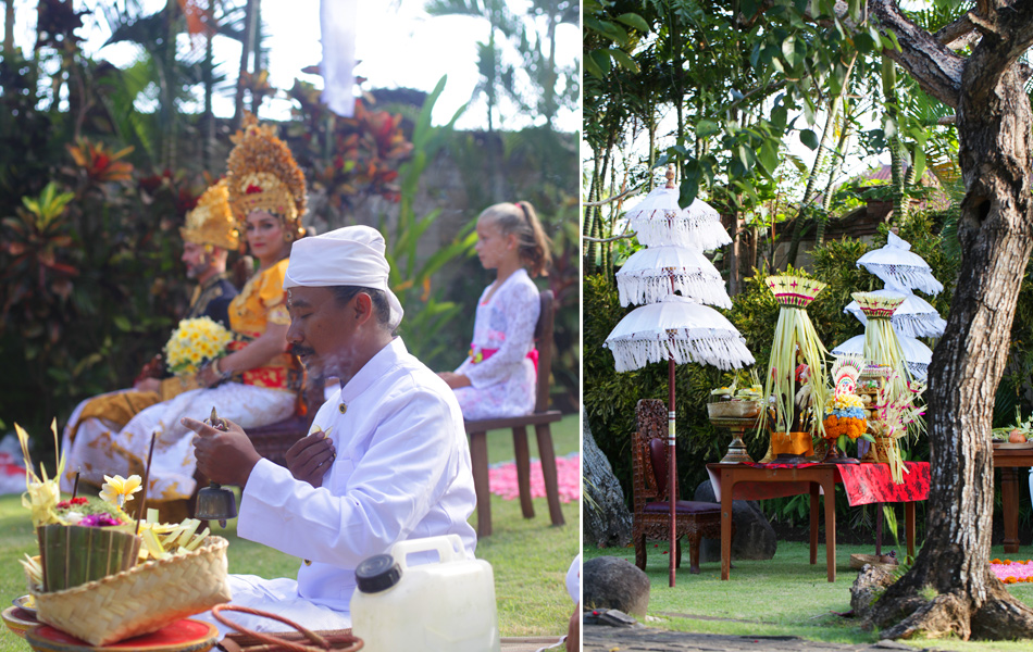ceremony procession for balinese wedding