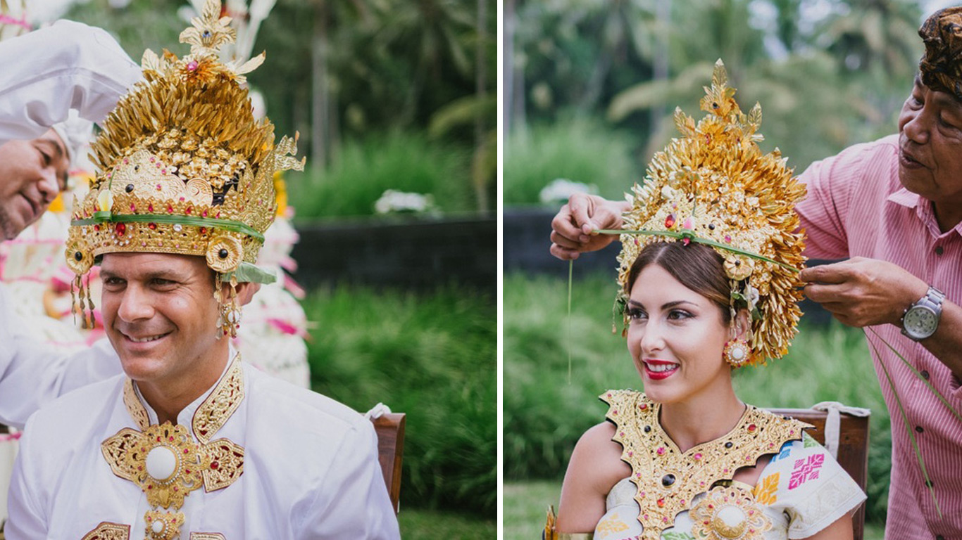 balinese blessing wedding ceremony