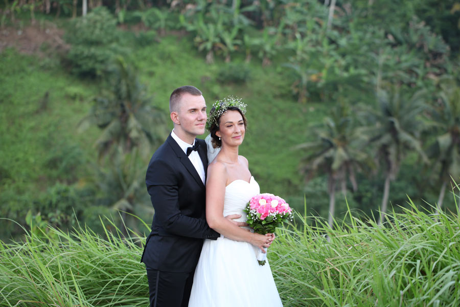 Lilly & Oliver Bali wedding ceremony - ubud prewedding