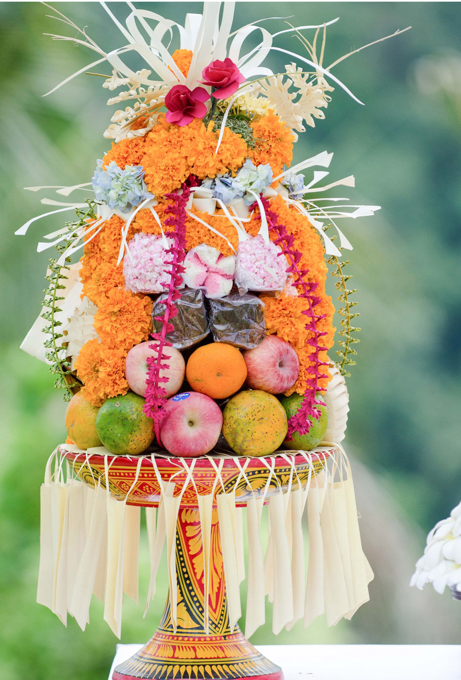 fruit offerings bali wedding at alila villa ubud bali