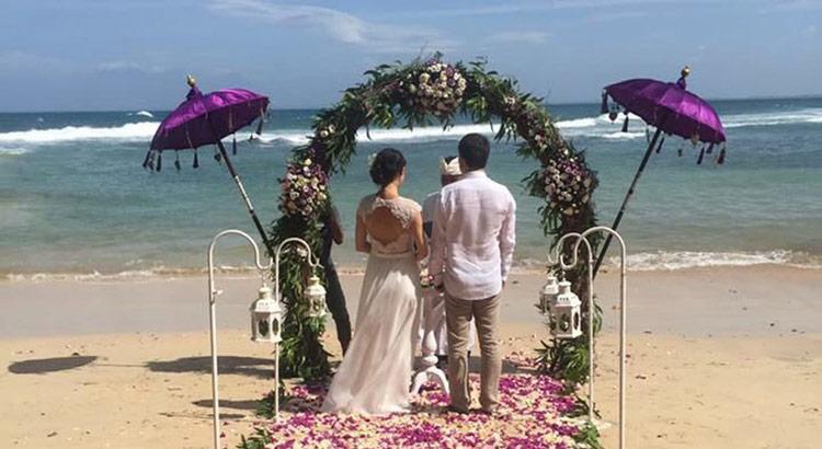 new kuta golf beach wedding