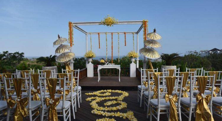 the sintesa jimbaran pool deck wedding