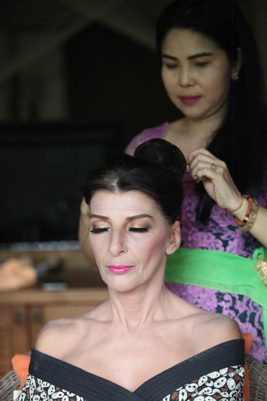 Norbert and Ingrid Hoerbinger bali wedding make up