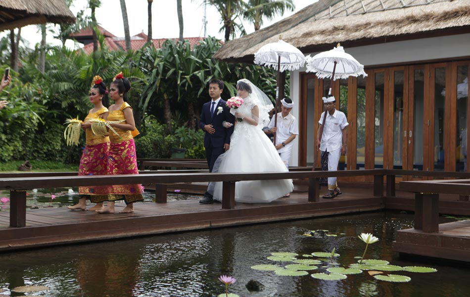 tao xiaoning & zhao hui liang wedding in bali