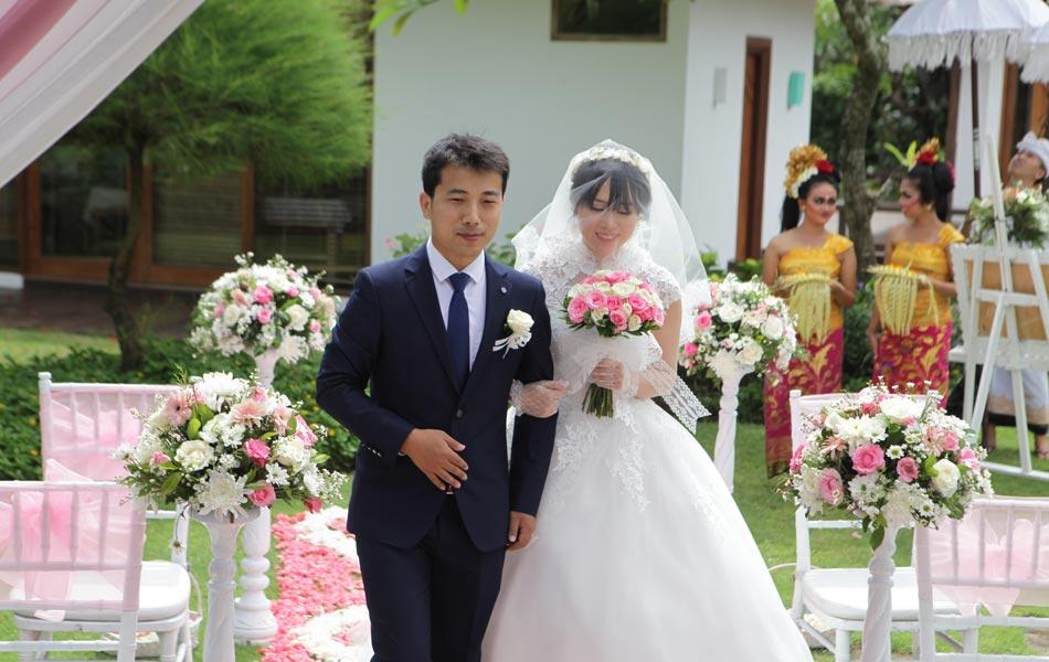 tao xiaoning & zhao hui liang wedding in bali