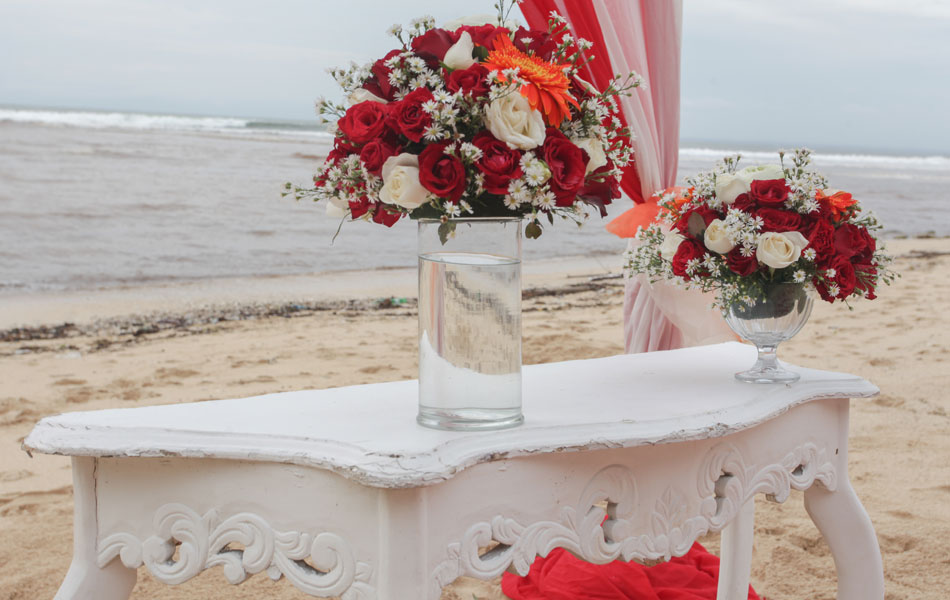 bali beach wedding flower decoration