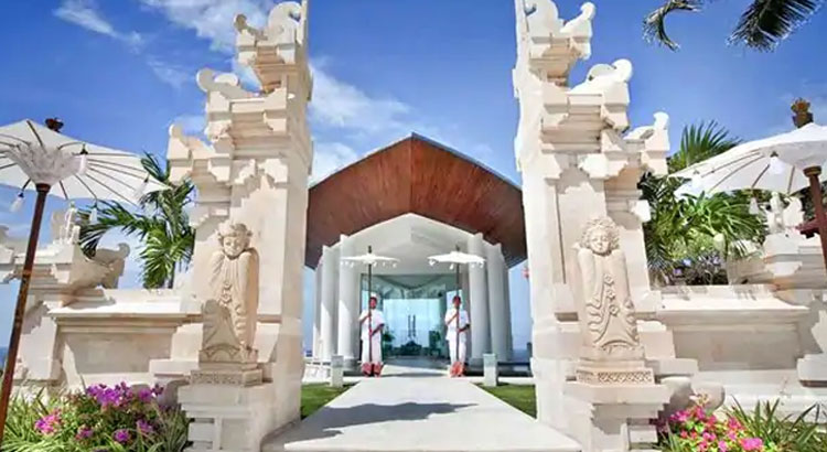 hilton bali beach resort wedding venue
