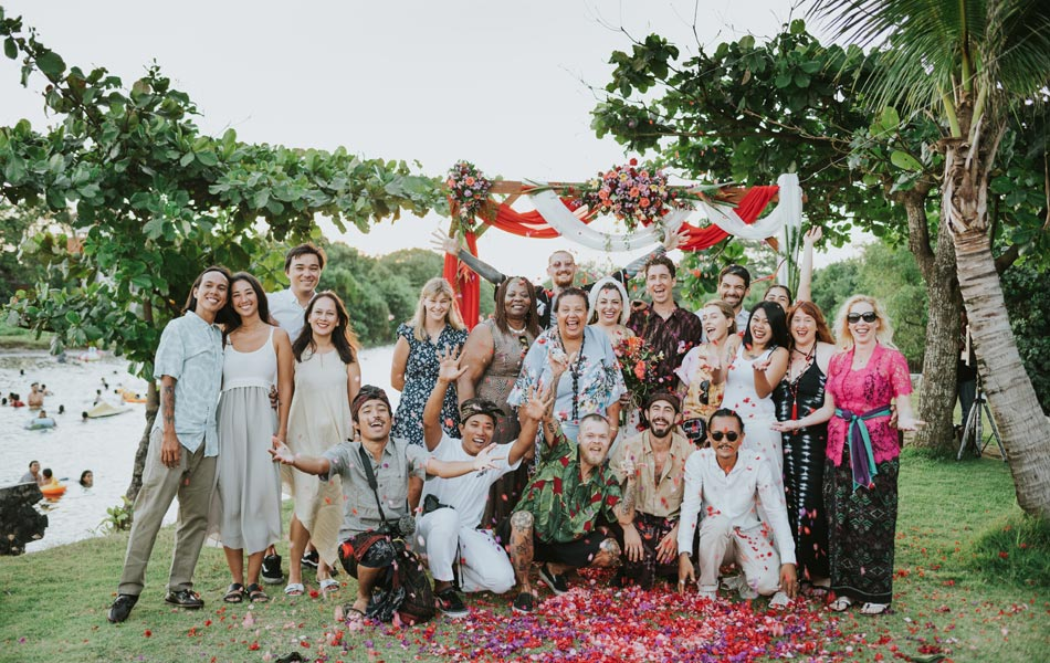 Larissa and Ryan Bali Wedding Vow Renewal - The Heavens Suite Canggu
