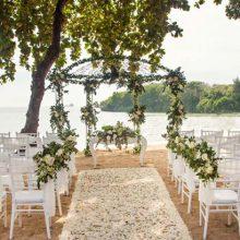 melia bali resort beach wedding venue
