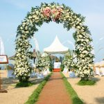 fresh flower arch