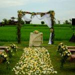 romatic wedding decoration at desa visesa