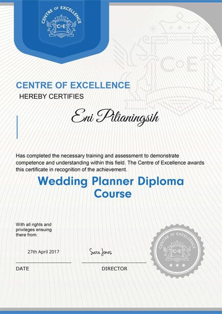 Centre of excellence wedding planner diploma