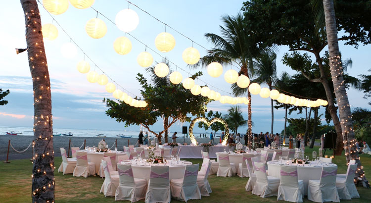 wedding reception in holiday in baruna