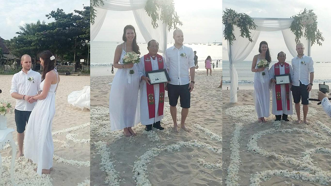commitment beach wedding in bali