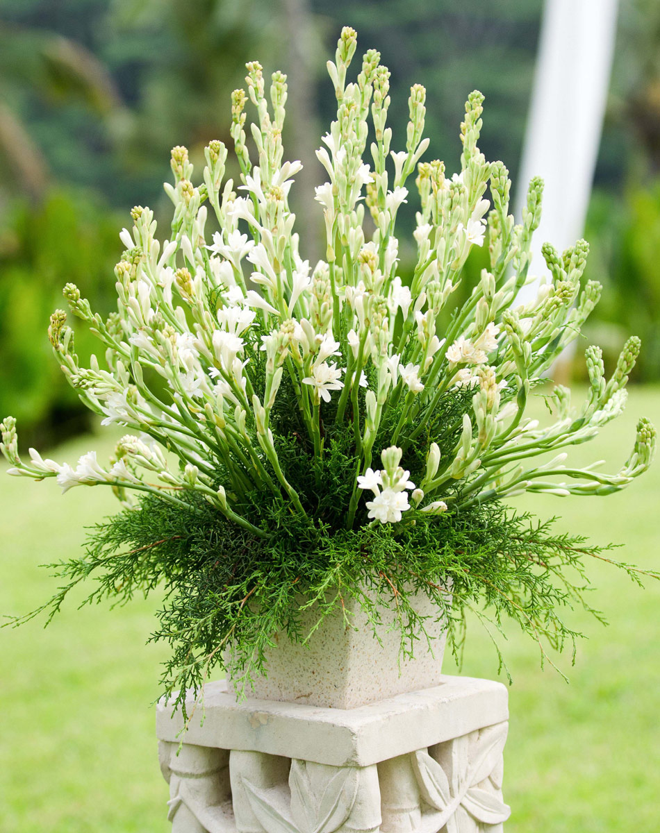 flower wedding decoration at allila villa ubud bali
