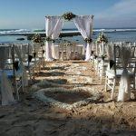 new kuta golf private beach wedding