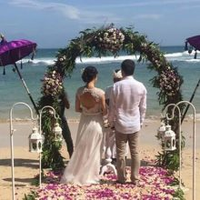 new kuta golf beach wedding