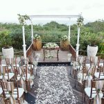 the sintesa jimbaran pool deck wedding decoration