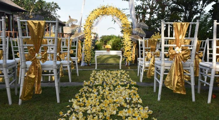 the sintesa jimbaran garden wedding decoration