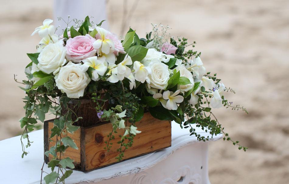 Kelle and Kingi Edwards wedding vows in bali beach