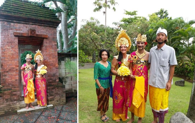 harm and franka balinese blessing ceremony in canggu