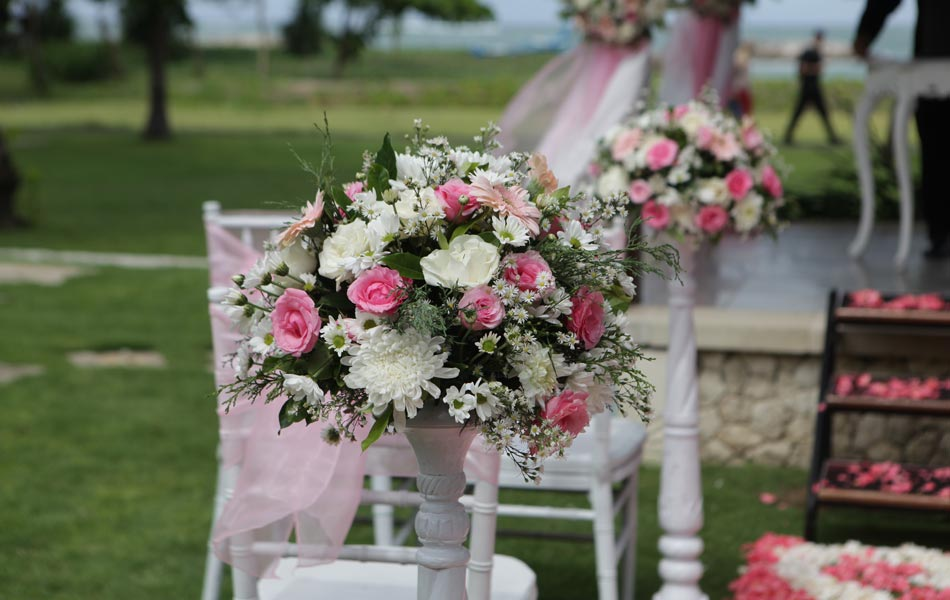 tao xiaoning & zhao hui liang wedding flowers decoration