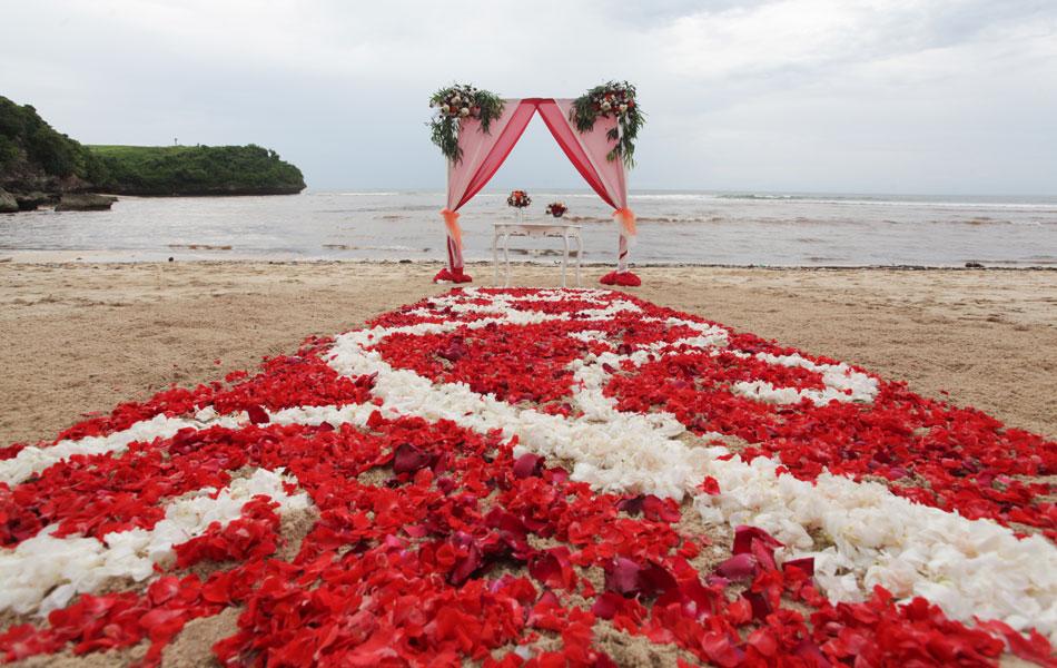 bali beach wedding decoration