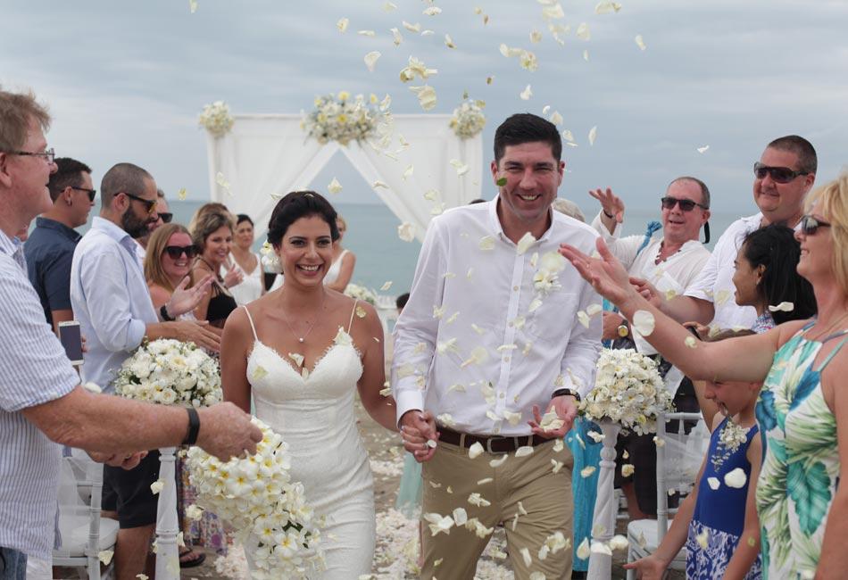 Bridget and Dale beach bali wedding