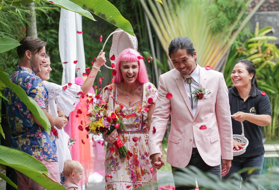 julie and justin bali wedding