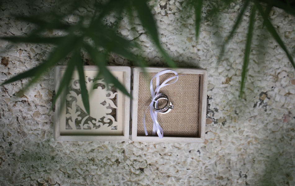 megan and bruce bali wedding - wedding rings