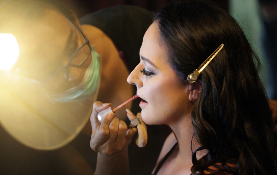 megan and bruce bali wedding - wedding makeup