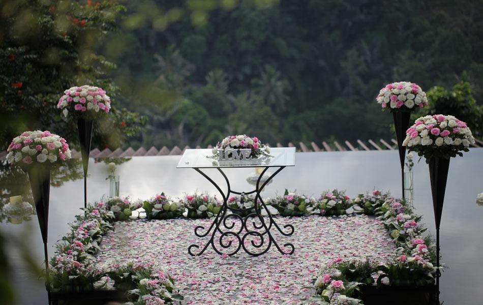 megan and bruce bali wedding - wedding decorations