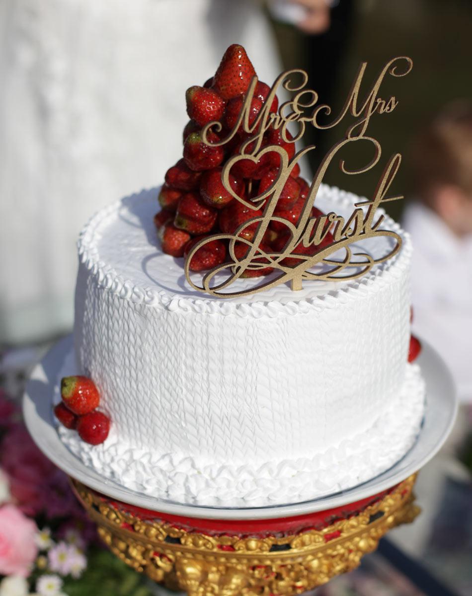 megan and bruce - wedding cake