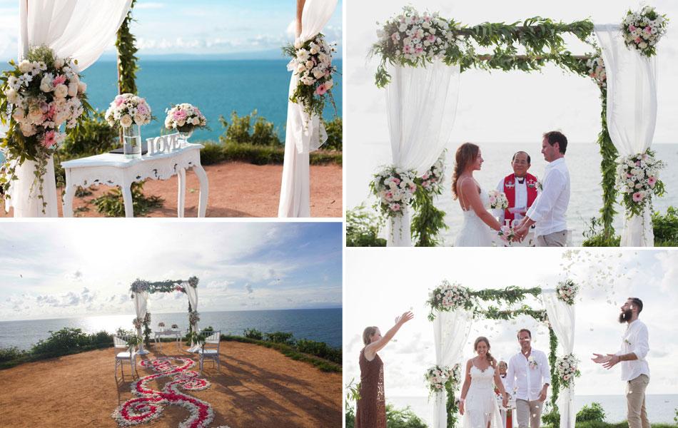 balangan beach cliff wedding package