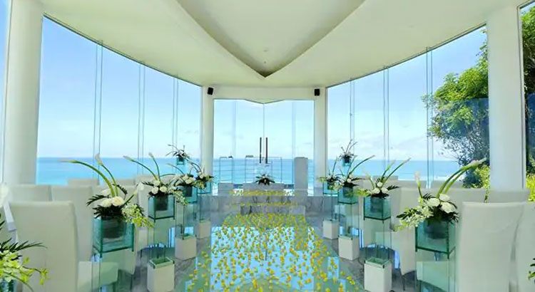 hilton bali beach resort wedding chapel venue
