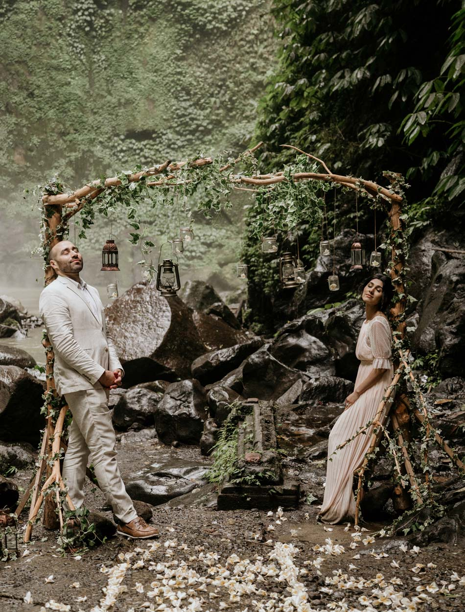 Lia - Adam Bali Waterfall Wedding Renewal Vows