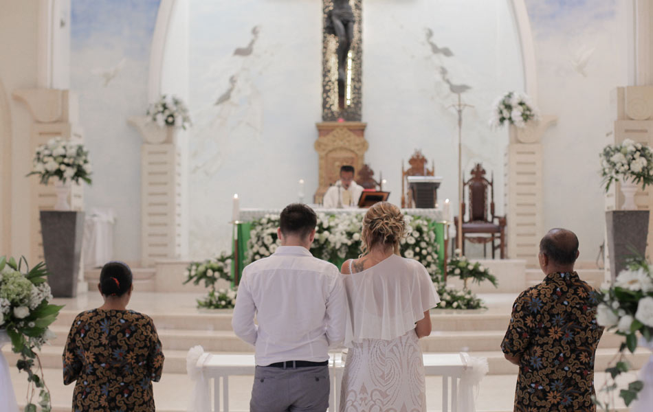 Ana and Branimir Catholic Church Bali