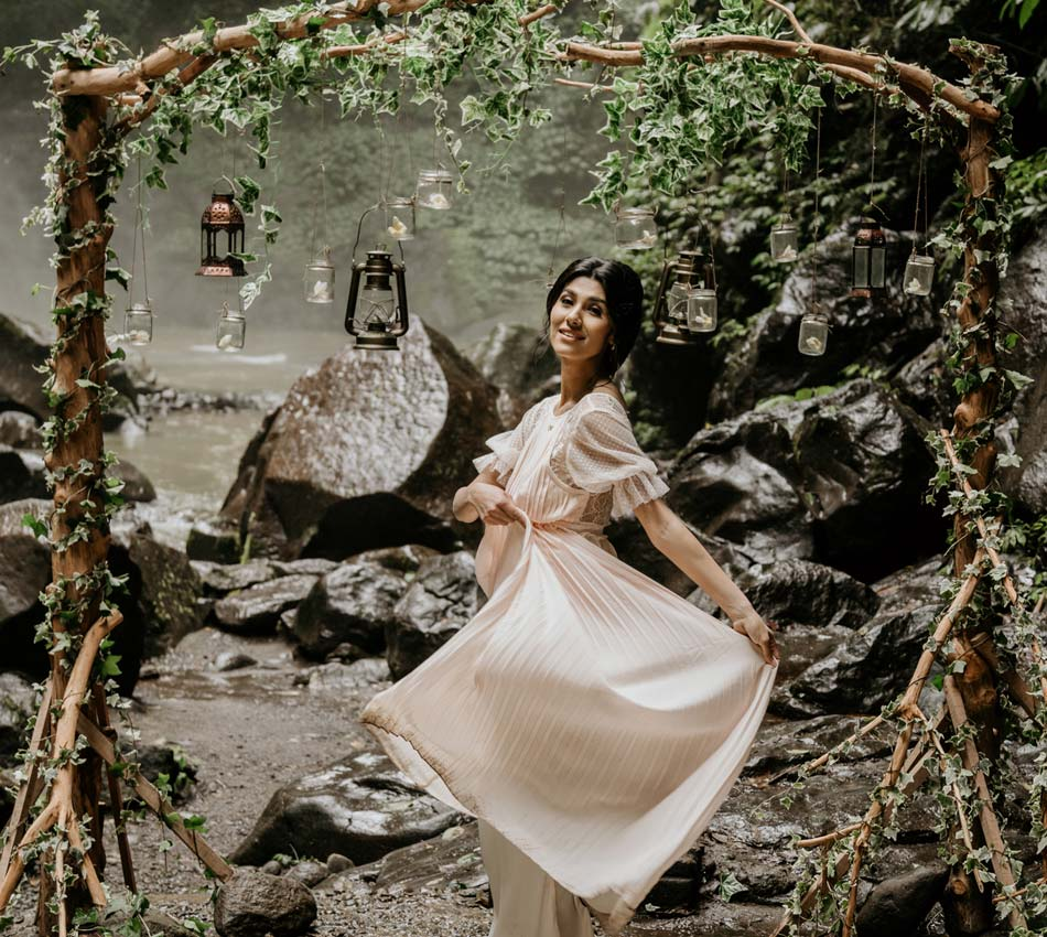 Lia - Adam Bali Wedding Waterfall Renewal Vows