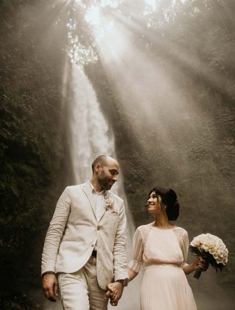 Lia - Adam Bali Wedding Waterfall Renewal Vows