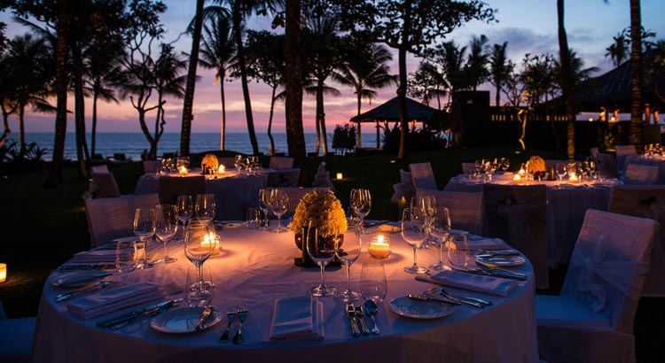 the legian bali sunset garden wedding