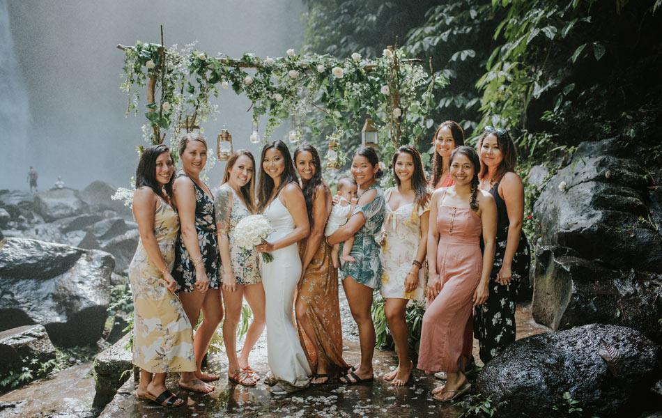 kristy and zack waterfall bali wedding ceremony