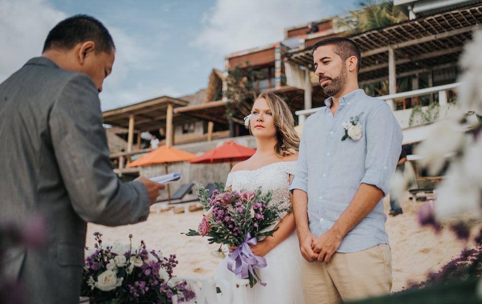ophelia fabian commitment wedding - balangan beach