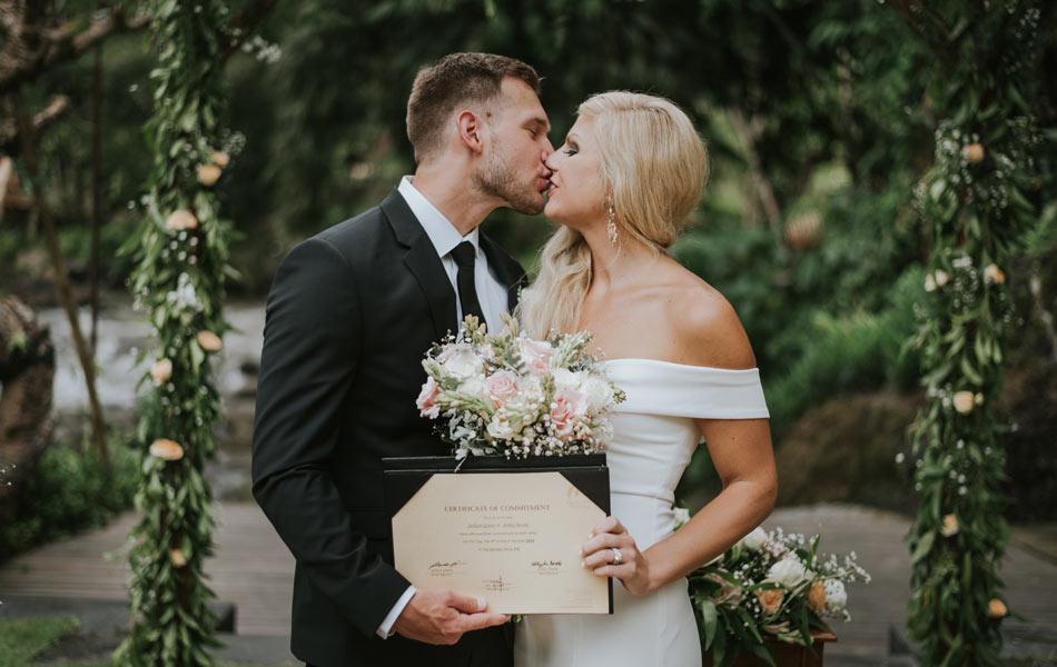 Ashley and Jackson Bali Wedding - the samaya ubud